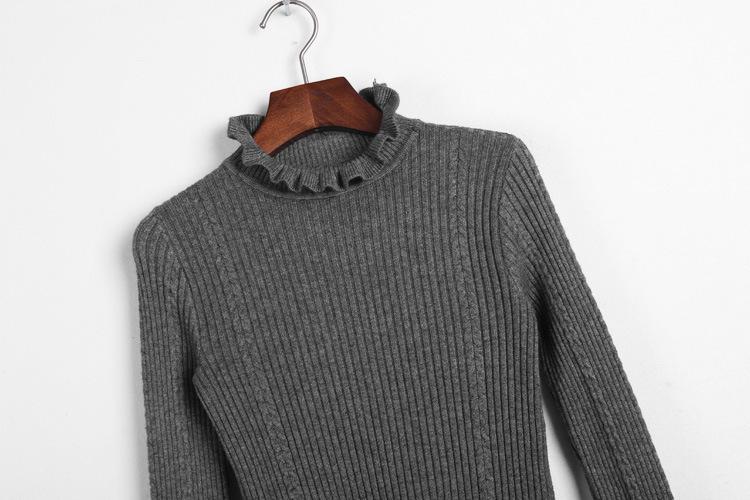 挑毛衣领子织法视频