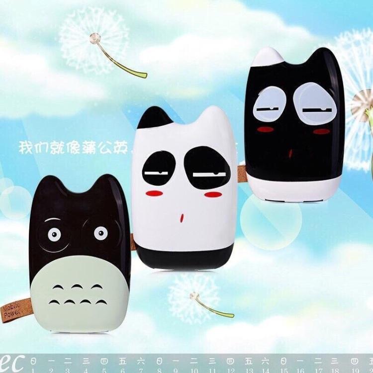 【小巧可爱迷你卡通龙猫移动电源通用充电宝12000