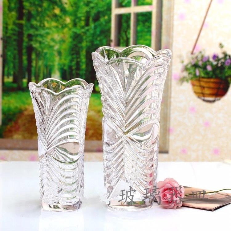 长春透明花瓶竹子插花花瓶