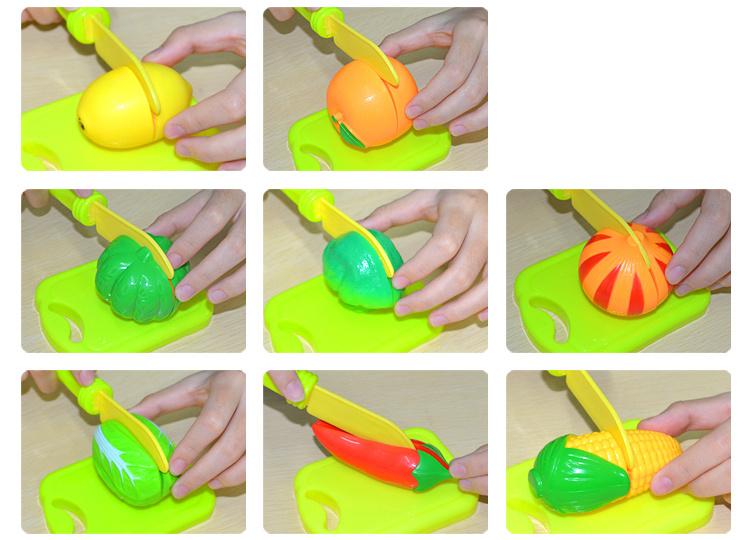 【儿童水果蔬菜切切乐桶装过家家玩具】-母婴-彩泥-果蔬拼盘齐动手