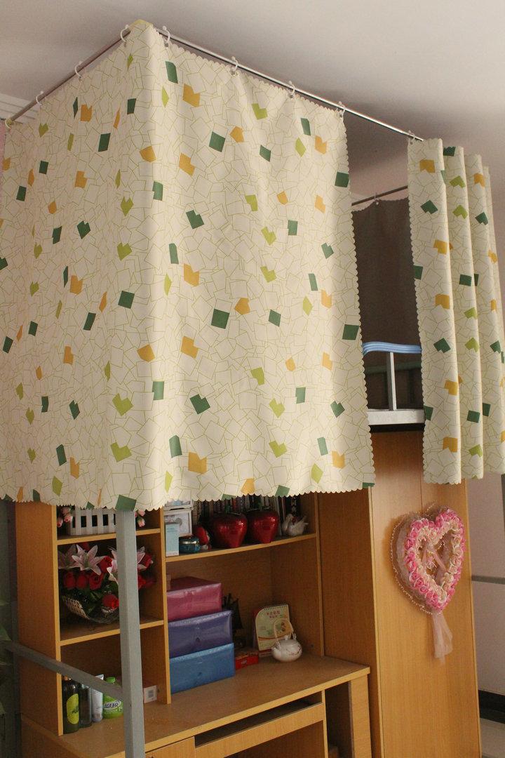 大学生寝室宿舍床帘上铺下铺遮光布窗帘图片