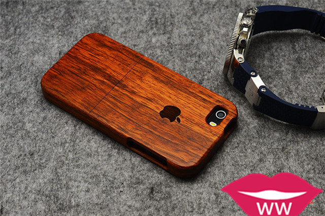 【【ww】iphone天然实木原木6s全包个性雕刻高档保护