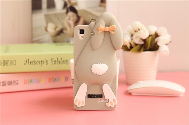 oppor7手机壳oppor7t可爱卡通硅胶手机套 龅牙兔