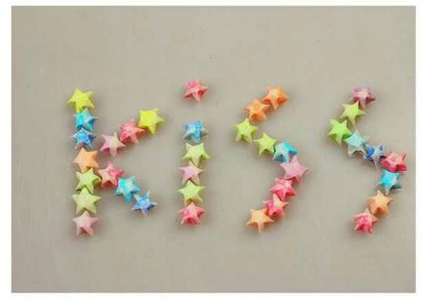 夜光kiss爱之吻星星纸 许愿星星折纸条 diy手工纸叠幸运