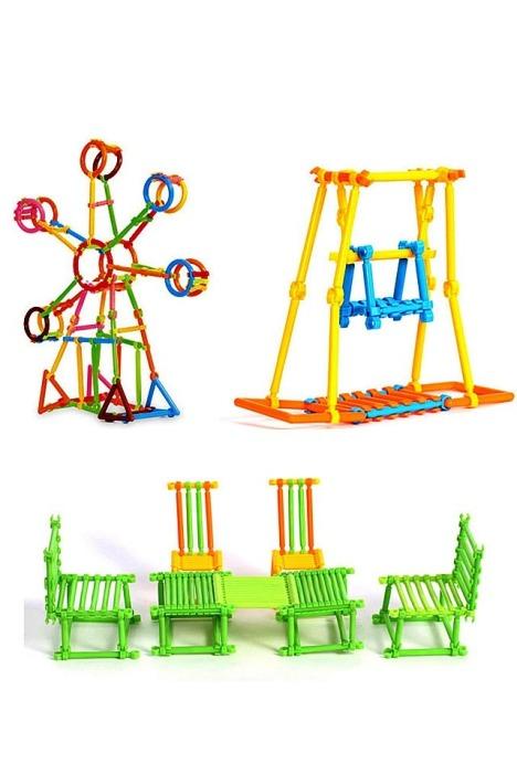 儿童聪明棒积木塑料拼装拼插益智玩具 拼搭拼接智慧棒幼儿园玩具