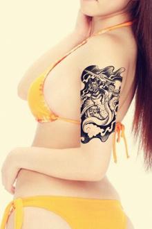 纹身贴防水男传统孙悟空佛像佛祖花臂斗战胜佛花臂纹身贴纸55