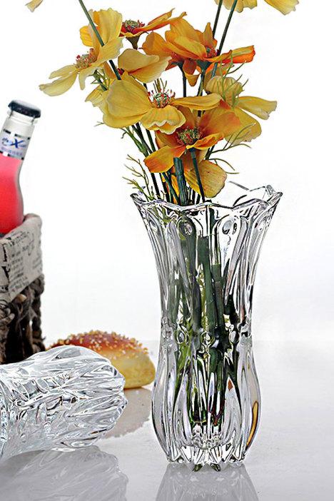 【欧式水晶玻璃花瓶透明水培摆件】-null-花瓶/仿真