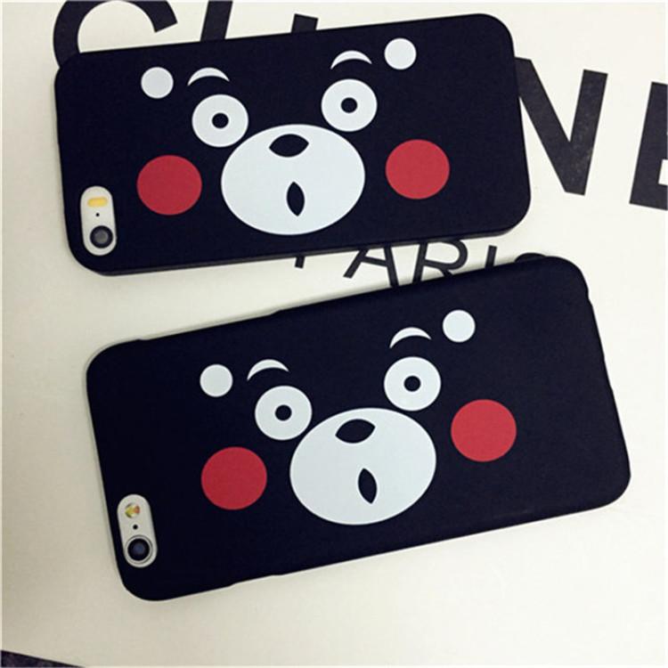 韩国明星同款卡通熊本君可爱皮卡丘表情iphone6s手机壳