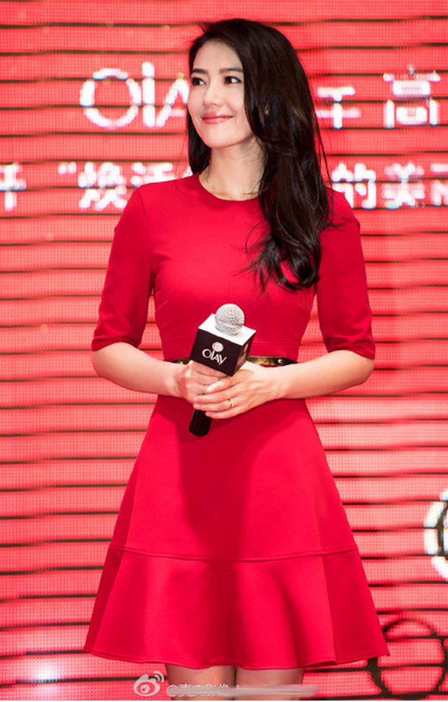 【高圆圆明星同款红色连衣裙】-衣服-裙子_连衣裙_鞋