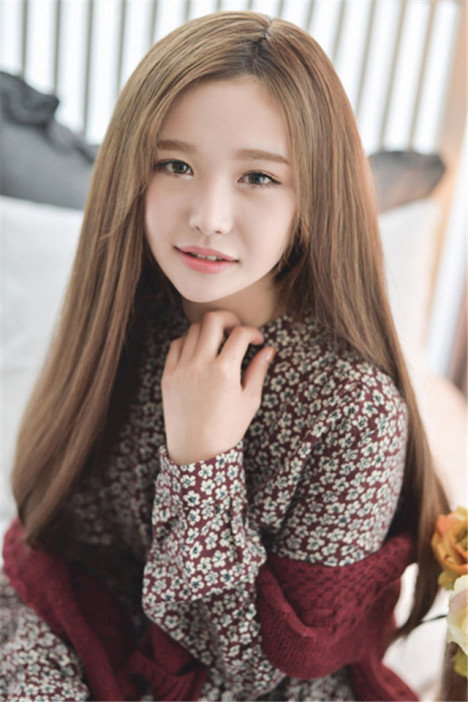 假发女长发长直发中分刘海假发逼真黑色气质自然韩国学生发型图片