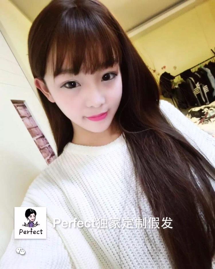 黑长直发空气刘海图_黑长直发空气刘海图分享展示
