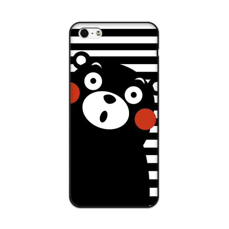 【苹果5手机套彩绘黑色边框iphone5s手机壳卡通软壳