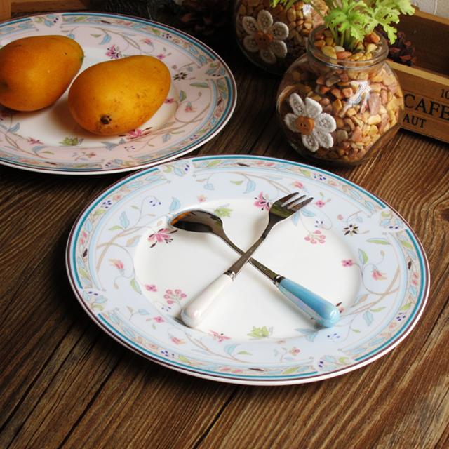 【欧式碎花清新唯美田园英式早餐下午茶蛋糕点心碟子