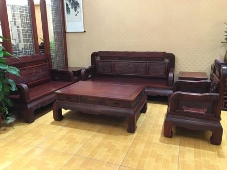 【红木国色天香沙发1+2+3六件套】-无类目-沙发