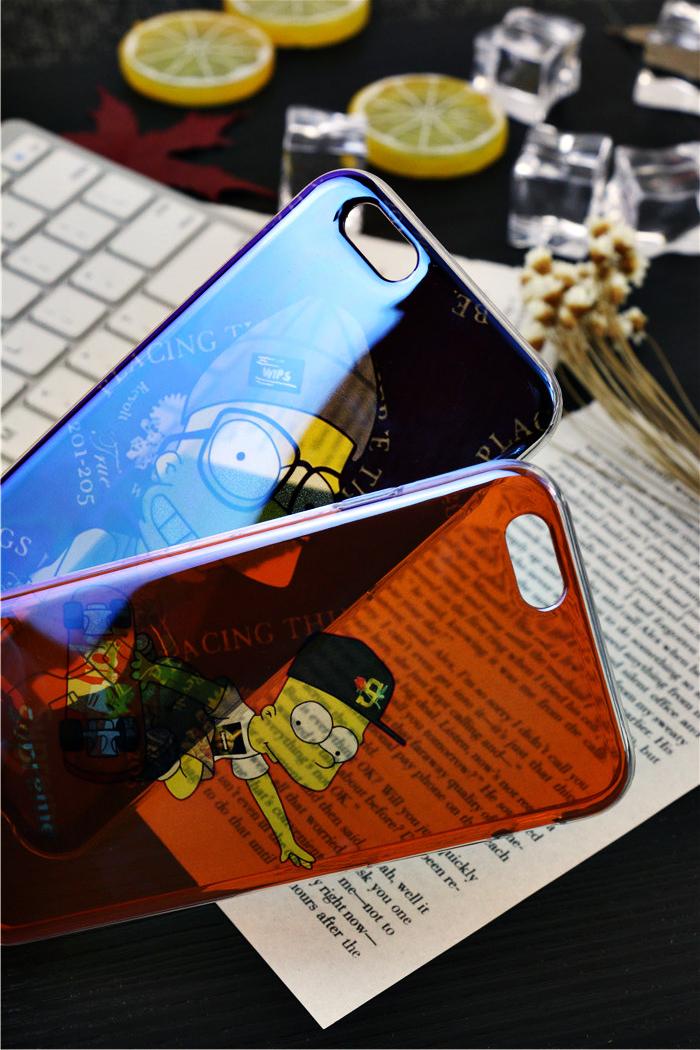 辛普森情侣苹果iphone6splus全包软硅胶手机壳