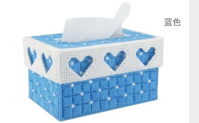 【3d十字绣客厅手工纸巾盒立体绣抽纸盒收纳盒套件】