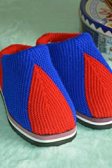 【纯手工妈妈针织编织毛线拖鞋鞋子】-无类目-女鞋