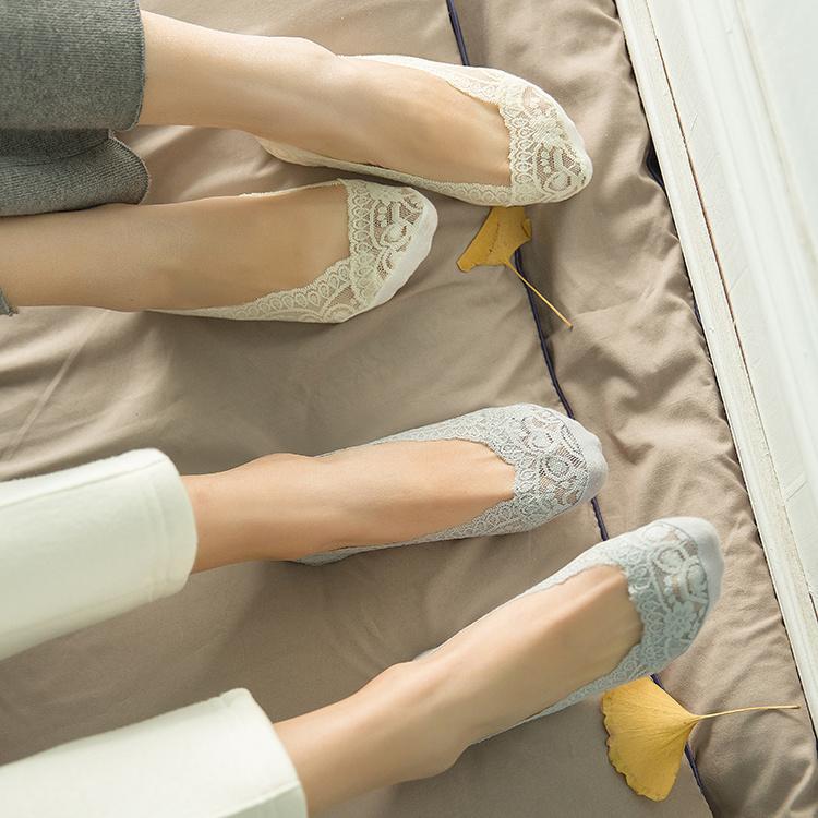 船袜夏天防滑花边袜韩国不掉跟蕾丝船袜短袜子女浅口