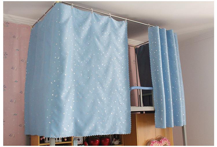 青色壁纸配窗帘效果图