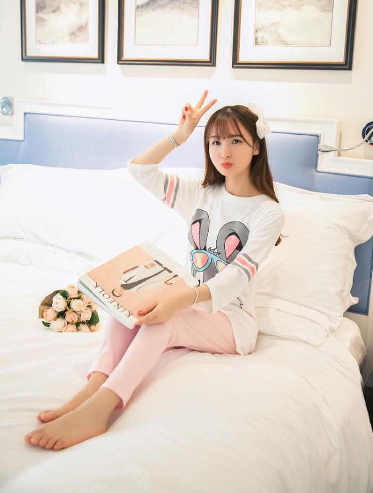 【可爱小清新兔八哥睡衣套装】-内衣-女士内衣/家居服