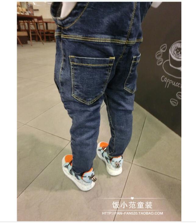 【儿童扣子牛仔背带裤】-无类目-裤子