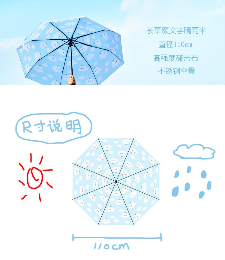 emoji雨伞矢量图