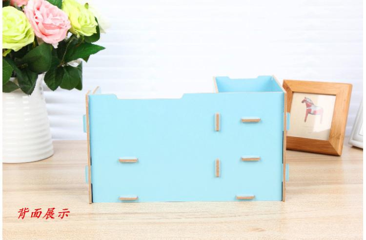【桌面迷你diy组装木质收纳盒】-null-百货