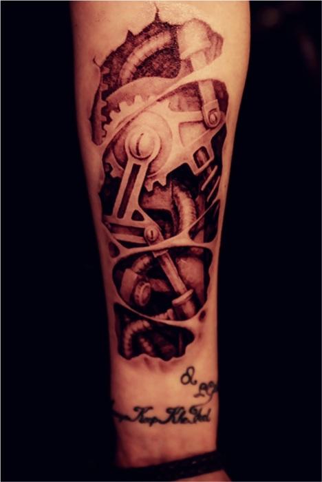 机械手臂纹身贴 立体逼真纹身贴 买一送一图片图片