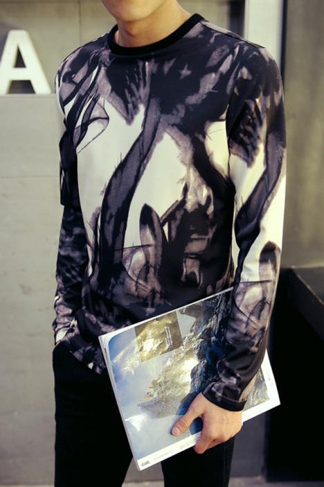 抽象派诙谐手绘线条卫衣】-男装