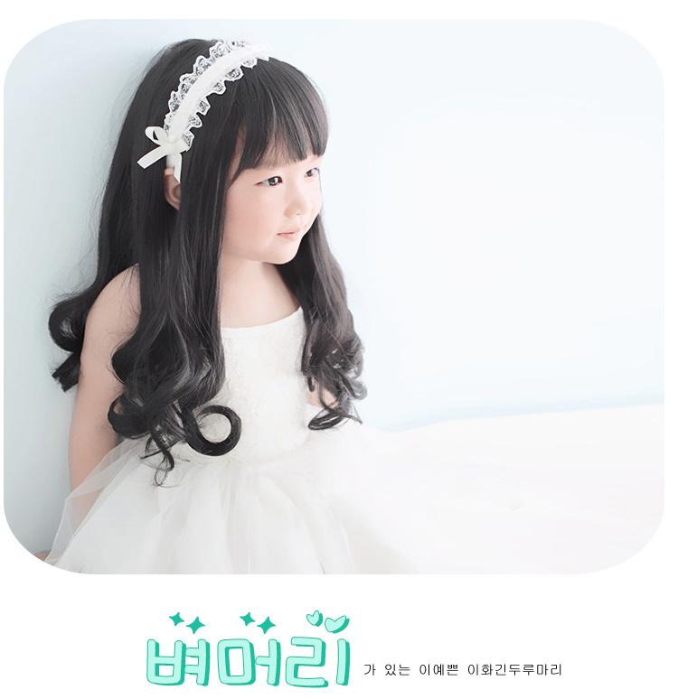韩国儿童假发女长卷发梨花发套宝宝公主假发头套