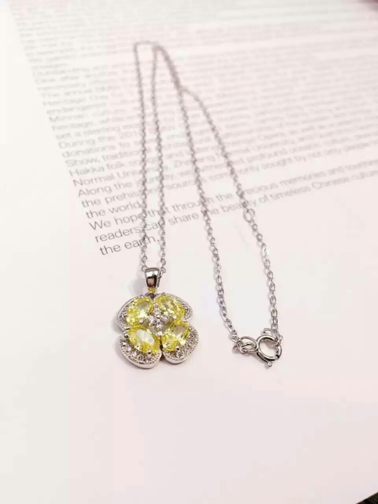 tiffany&co黄水晶项链图片