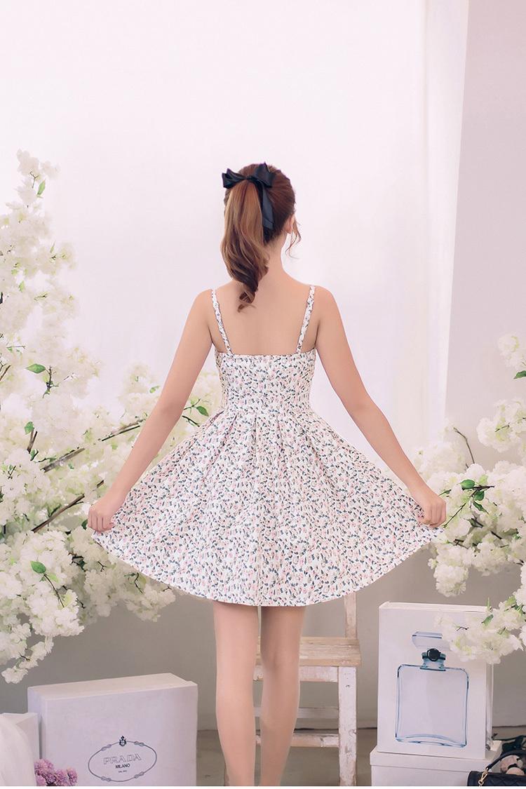 连衣裙夏甜美碎花裙