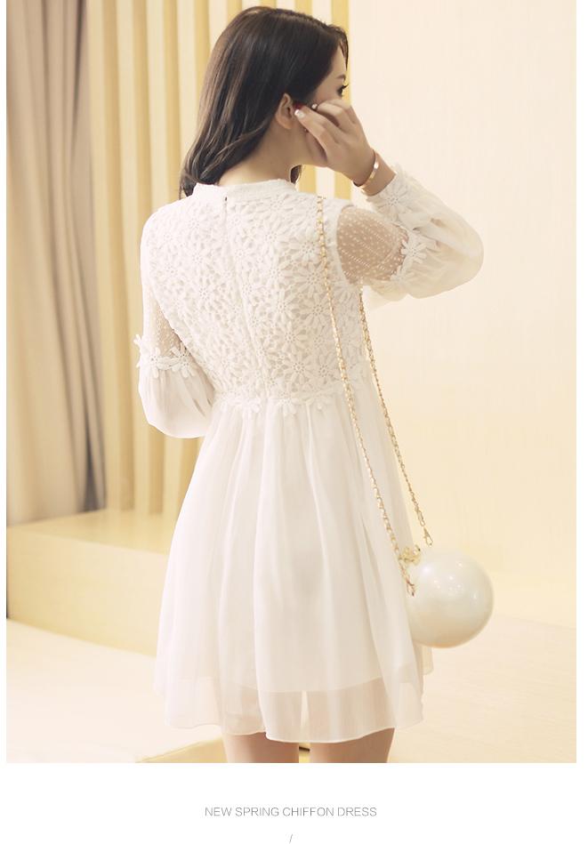 【蕾丝连衣裙】-衣服-裙子