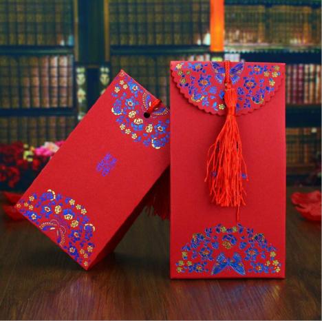 创意结婚喜糖盒子 中国风烫彩金糖盒 婚礼喜糖盒子 中号可装烟