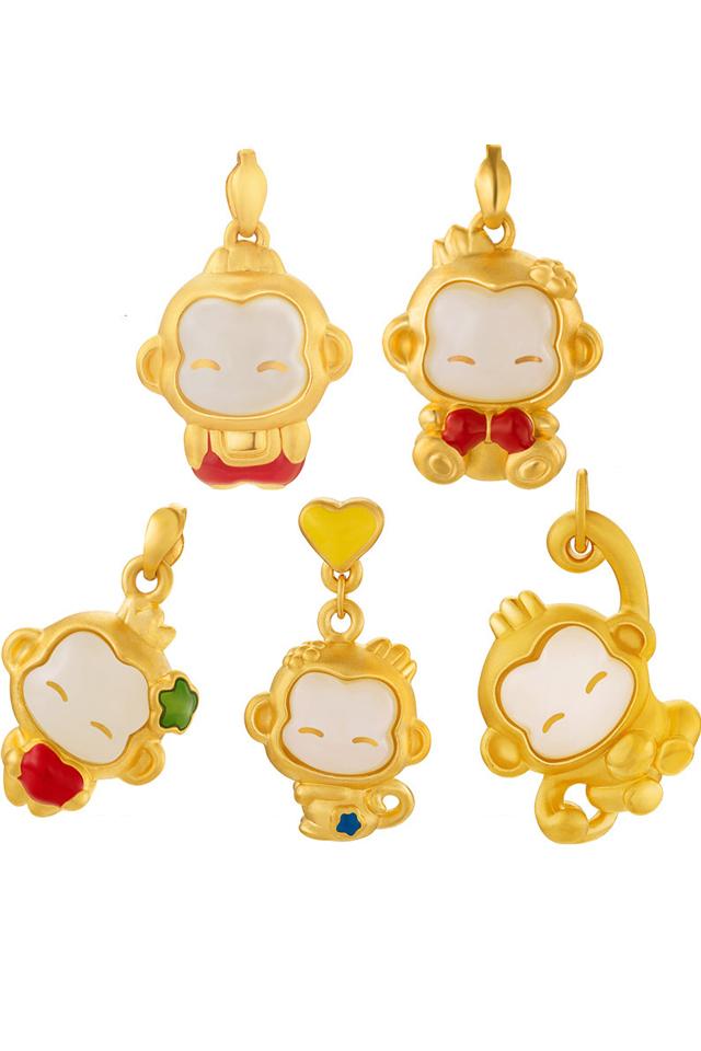 黄金猴子囹�a_2016仿黄金猴子本命年吊坠