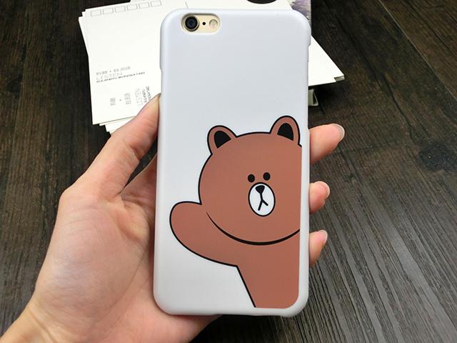 可爱新款苹果6/6s可妮兔磨砂手机壳布朗熊保护壳情侣款