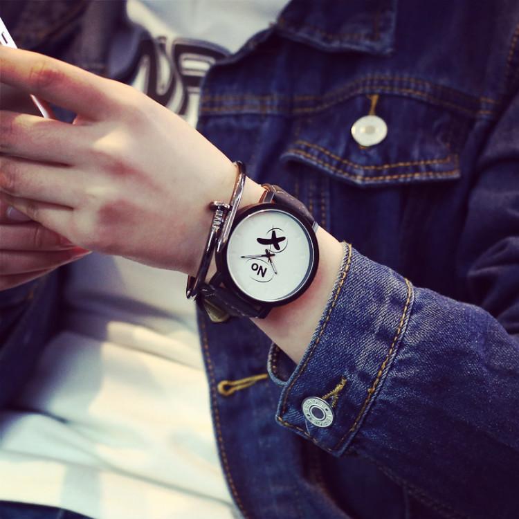 时尚印字简约yesno情侣手表