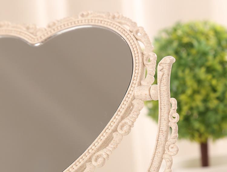 【送随身镜子+梳子】欧式镜子 双面便携公主镜