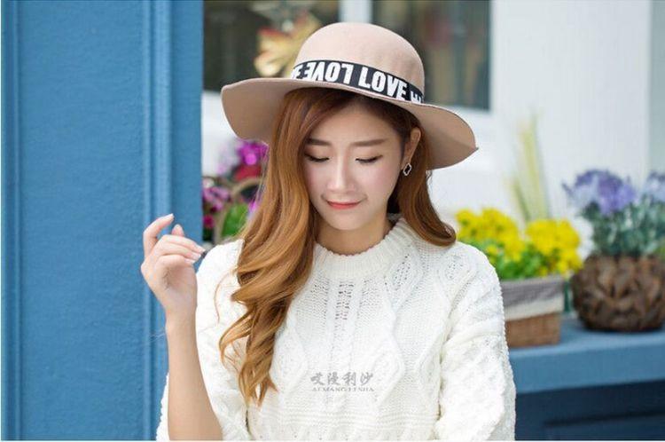 韩版时尚 英伦羊毛呢帽子