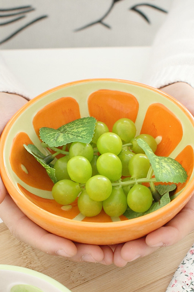【可爱手绘水果碗西瓜碗米饭碗甜品碗日式创意陶瓷器