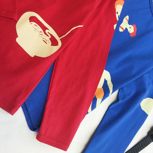【小清新手绘游泳跳绳印花长袖t恤】-衣服-服饰鞋包