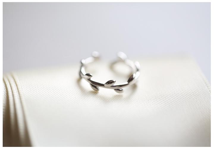 韩版925纯银树枝戒指包邮