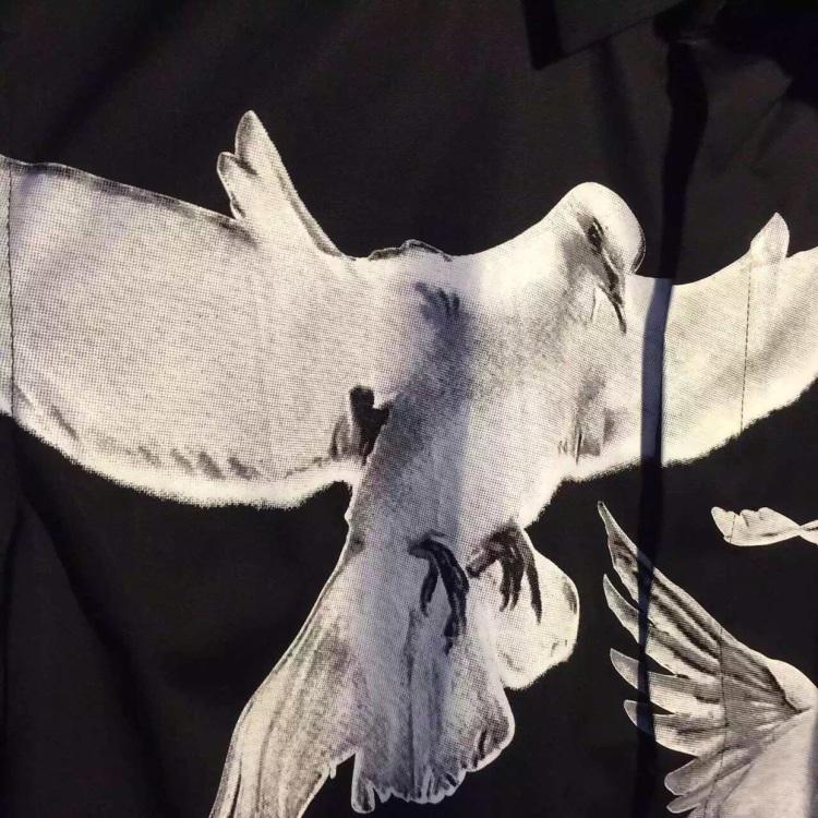 gvc 和平鸽衬衫 黑白简约超复杂定位印花