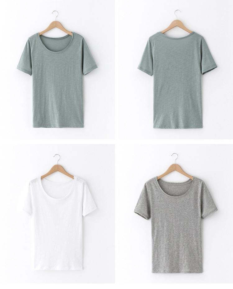 韩版纯色短袖t恤