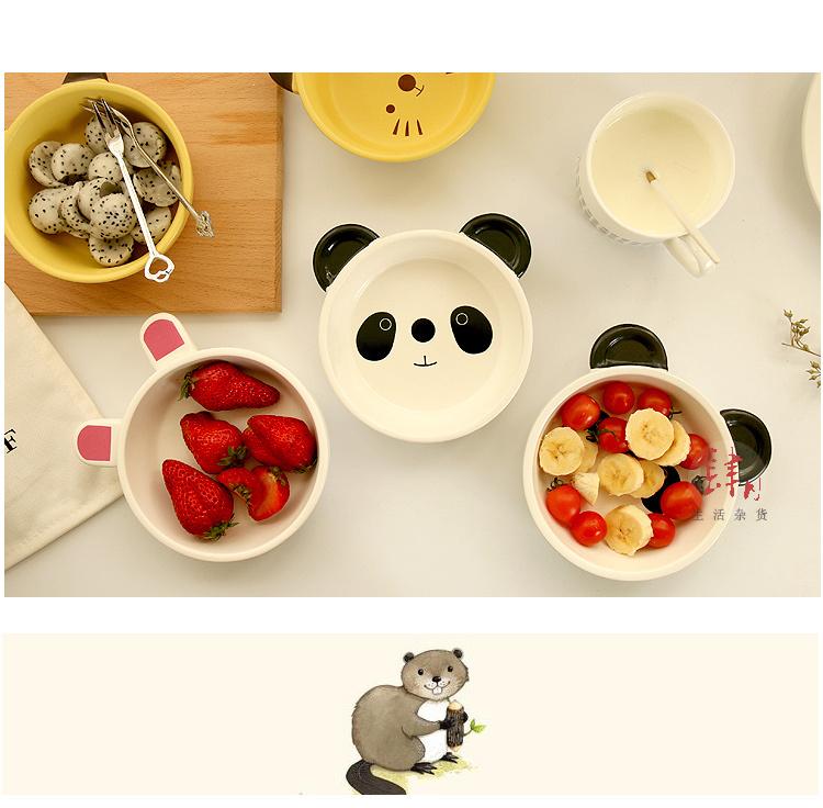 【陶瓷卡通动物焗饭烤碗】-null-百货