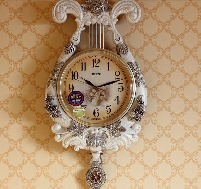 【创意欧式奢华客厅装饰挂钟复古新房壁挂装饰品壁钟