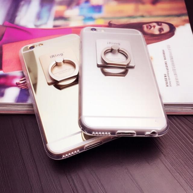 iphone6plus手机壳镜面苹果6指环支架手机套男5s外壳全包4s潮女