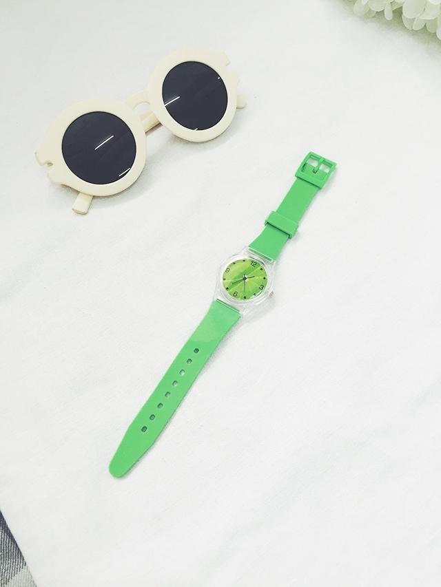 包邮韩国小清新可爱卡通水果猕猴桃透明简约手表腕表学生装饰表