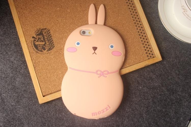 【韩国可爱呆萌兔子iphone6plus5s手机壳】-配饰-3c