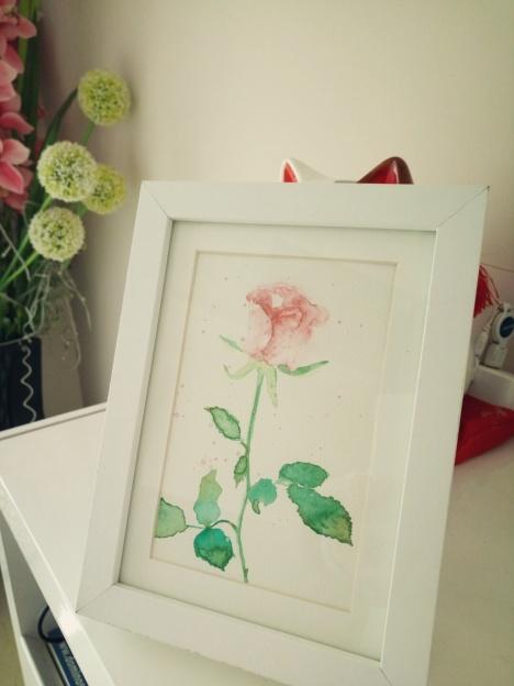 【水彩花卉装饰画 宜家相框】-无类目-装饰画